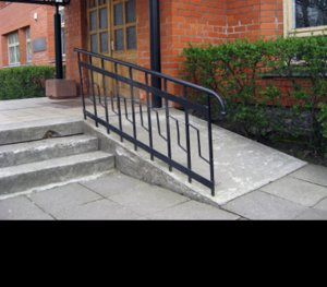 A ramp demonstrates how ADA solutions can be unattractive and last-minute.