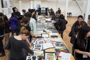 Portfolio table at March Open House 2014