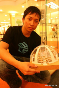UCSI University architecture student and his project