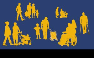 UD is for everyone: many different people including children, adults, older adults and people with disabilities.