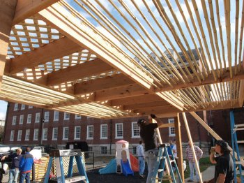 University of Kentucky Landscape Architecture students - Shade Structure