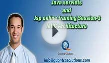 Java Online Training MVC Architecture and Web Apps Session
