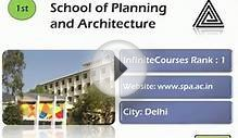 Top 10 Architecture Colleges India
